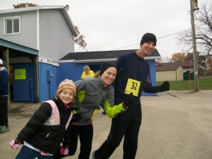 Dave and I with Cassie getting ready to run!