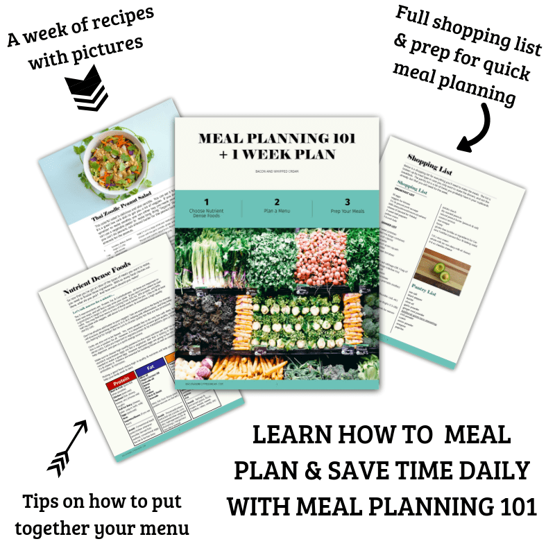 Meal Planning 101 Free Ebook - Bacon And Whipped Cream